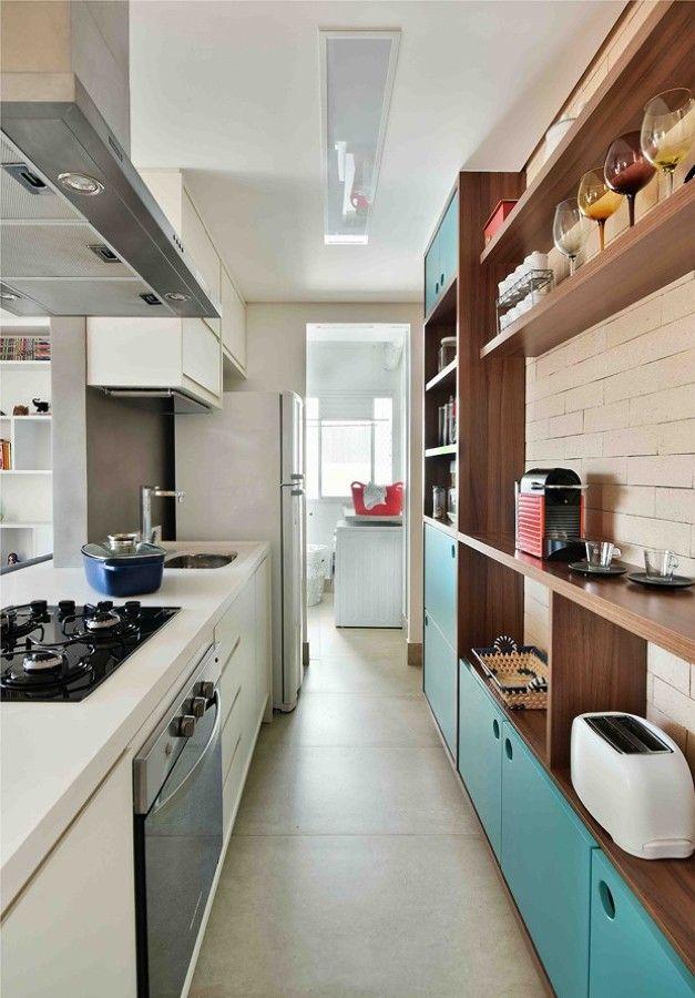 Como aproveitar uma cozinha estreita #hogarhabitissimo                                                                                                                                                                                 Mais