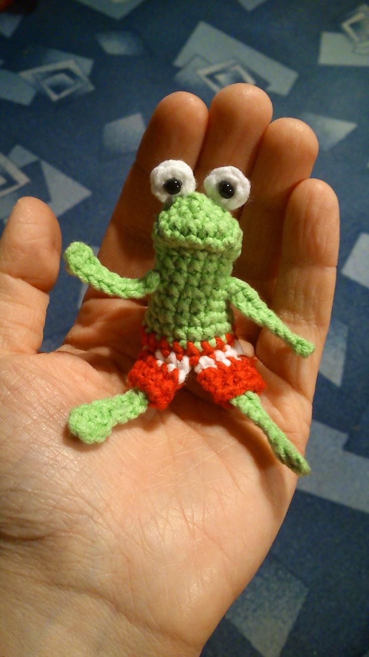 Pan žabák - prstový maňásek