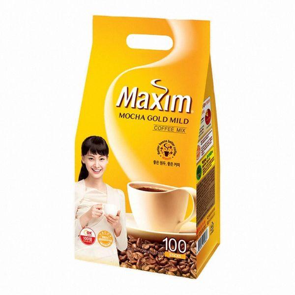 Korean Instant Mixed Coffee Stick Maxim Mocha Gold Mild Rich Flavor 100 Sticks #Maxim