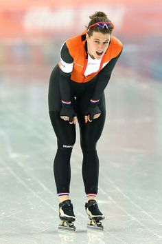 Ireen Wüst ~ Gold Medal at 2006 Turin (3,000m) , 2010 Vancouver (1,500m) and 2 Gold Medals at 2014 Sochi (3,000 & Team Pursuit) Olympics   #Skating #IreenWüst #Netherlands