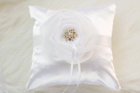 White or Ivory  Ring Bearer Pillow