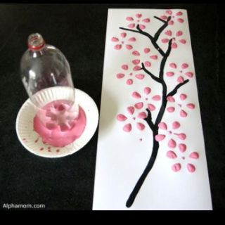 """Such an easy """"craft"""" project!  (Is it puffy paint or regular paint?  I wonder...no info with pic)"""