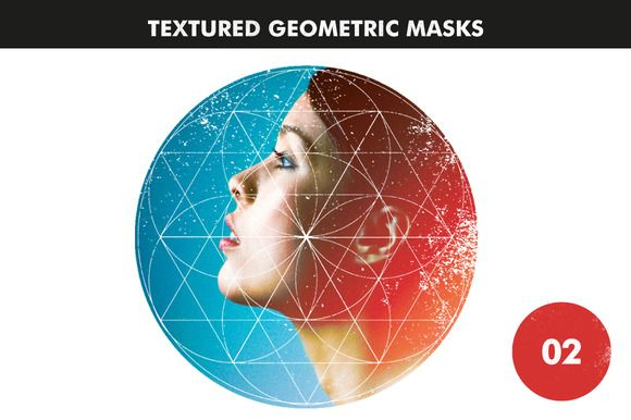 Textured Geometric Masks 02 by Offset on Creative Market