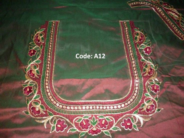 94 Best Kanniya Aari Works Images On Pinterest | Blouse Patterns Couture And Embroidery