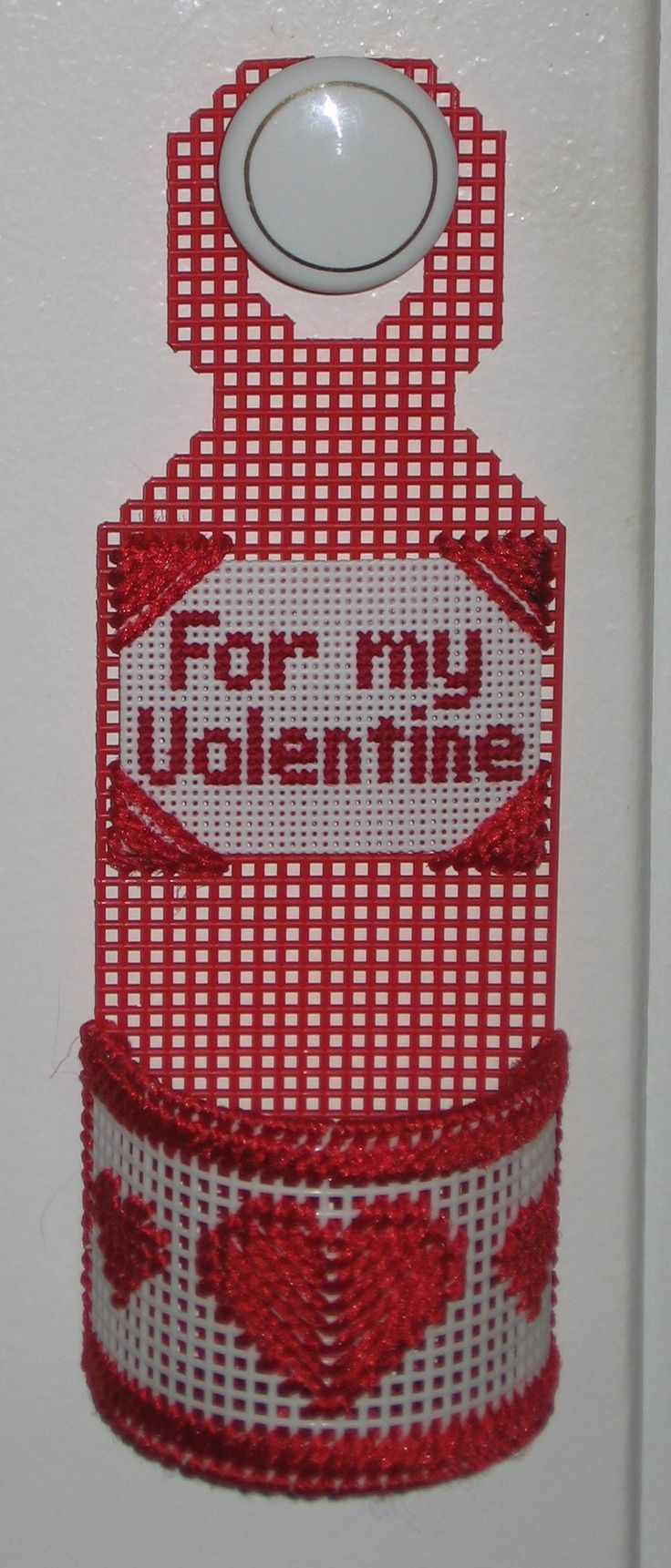 Door Knob Hanger For Valentines Day Made With Plastic