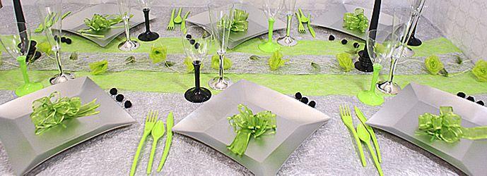 D coration de table mariage table de mariage bapteme for Decoration 40 ans de mariage