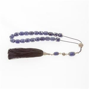 Sodalite Worry Beads (Komboloi) - Sterling Silver 925, Style B