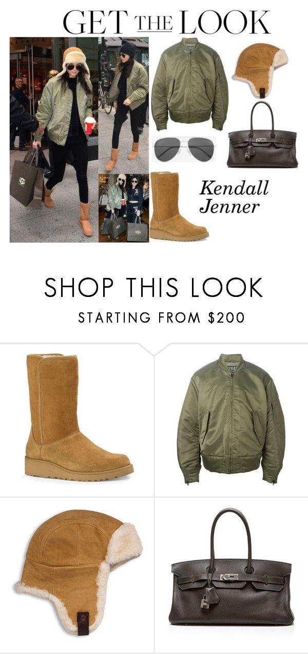 """""""Kendall Jenner With Kylie Jenner Ugg Store November 11, 2015"""" by valensmilerstyle ❤ liked on Polyvore featuring UGG Australia, adidas Originals, Hermès and Yves Saint Laurent"""