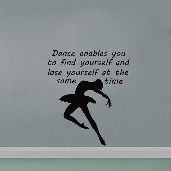 Wall Decals Dance enables you to find Decal Vinyl Sticker  Home Decor Dance School Studio Decor  Window Dorm Living Room MN 245