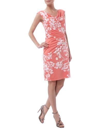 VERA-MONT Cocktailkleid mit Drapierung und floralem Muster in Rot online entdecken (9455865)   P&C Online