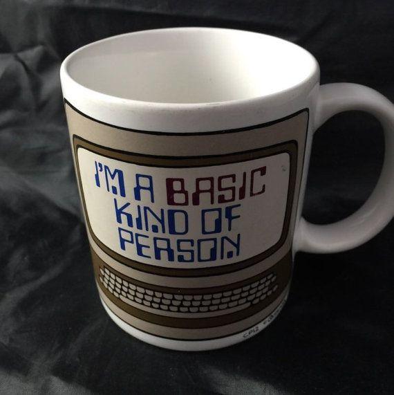 Vintage Coffee Mug Cup Basic Programming Language by a2vVintage