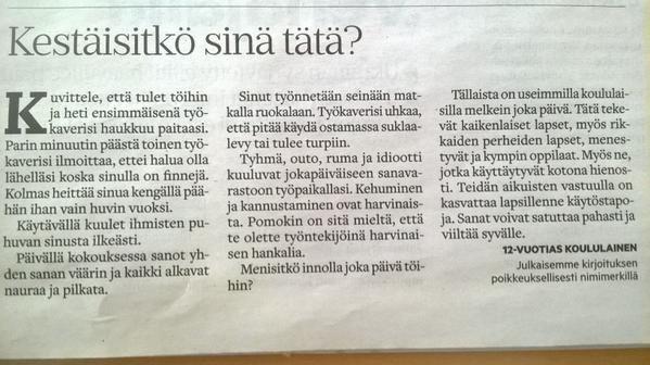 ★ Neutral Grey ★ Kestäisitkö sinä tätä? 12-vuotiaan kirjoitus @lapinkansa -lehdessä. #kiusaaminen #käytöstavat #koulu #kasvatus