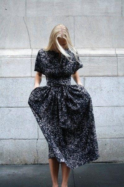 Street Style Formal Black Dress