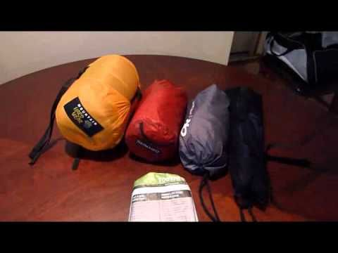 Gear list for my trip to the Grand Tetons  Total weight of the bag without water:  35 lbs