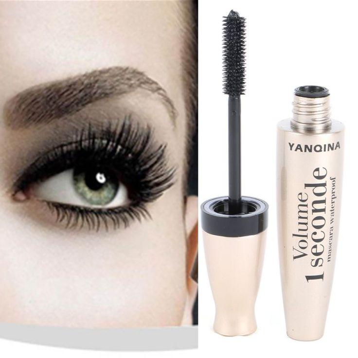 Belleza Maquillaje Extensión de la Pestaña Del Rimel Largo y Grueso A Prueba de agua Rollo Warped Pestañas Mascara