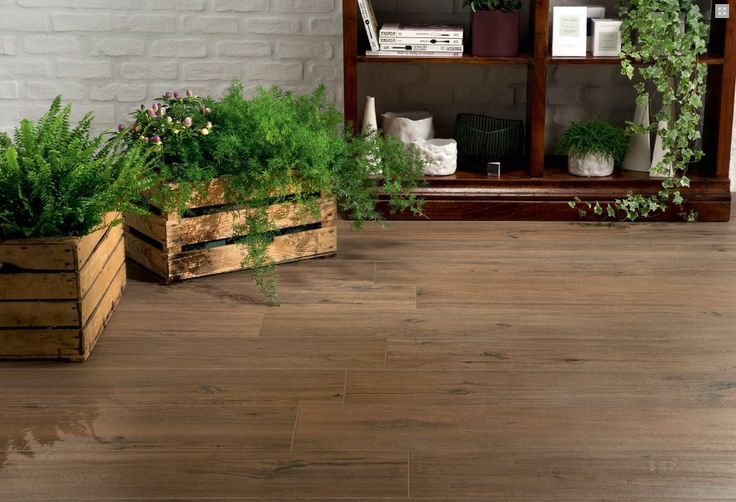 Porcelain stoneware wall/floor tiles with wood effect HYTHE by Grestec Tiles