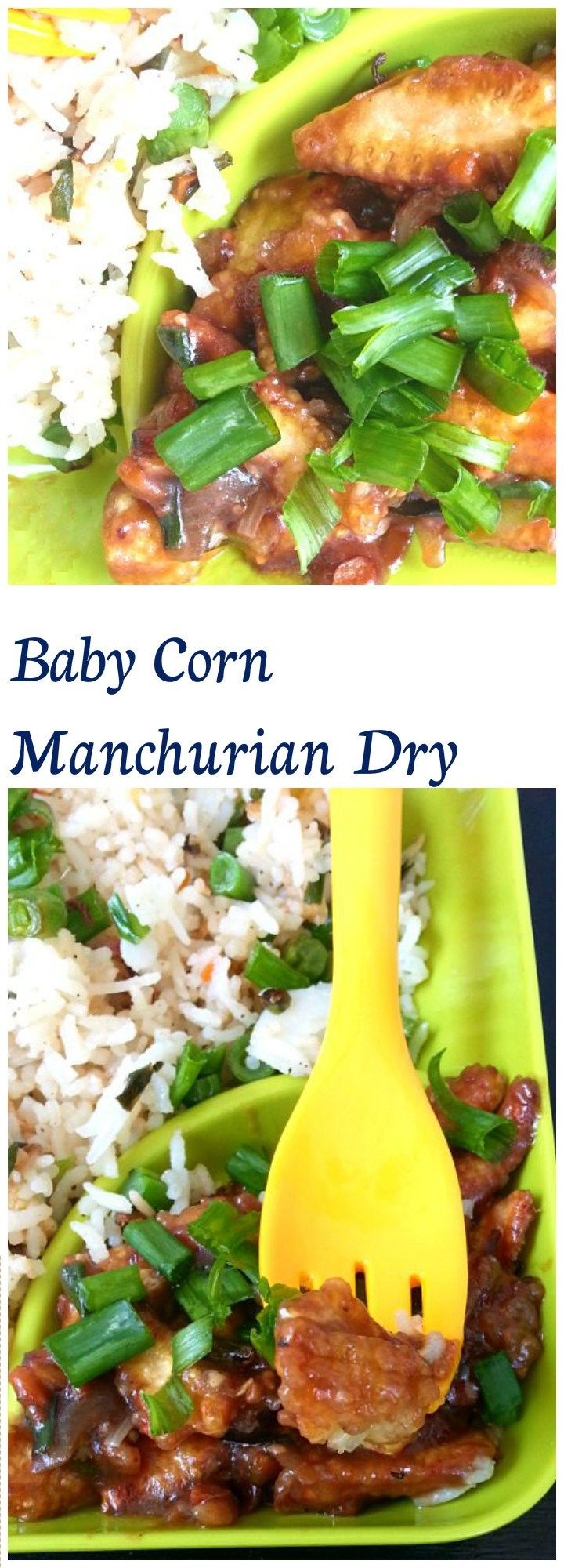 Baby corn Manchurian dry -Crisp Fried baby corn cooked in an Indo-Chinese sauce, is an awesome evening snack across many cities in India.