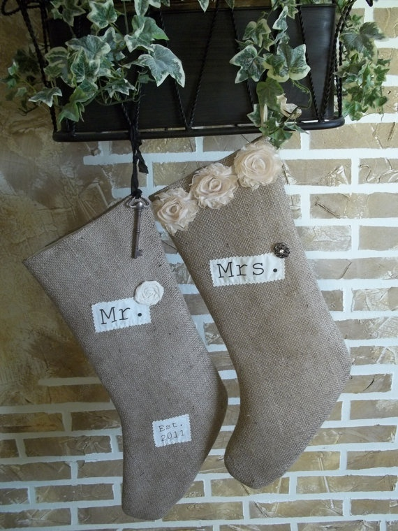 bought these burlap stockings. alex is going to kill me...he loves his soccer stocking from last year.