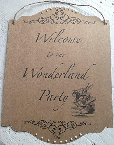 74 best alice in wonderland wedding party invittiona table alice in wonderland garden party rustic wedding indoor outdoor welcome to our wonderland party junglespirit Gallery