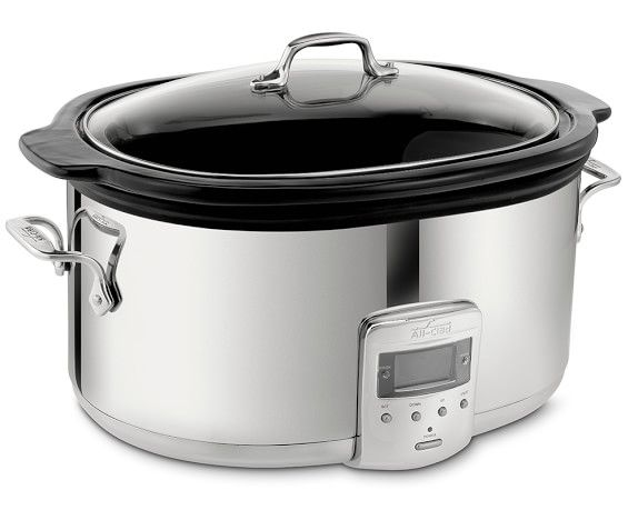 All-Clad Slow Cooker with Black Ceramic Insert, 6 1/2 Qt. | Williams-Sonoma