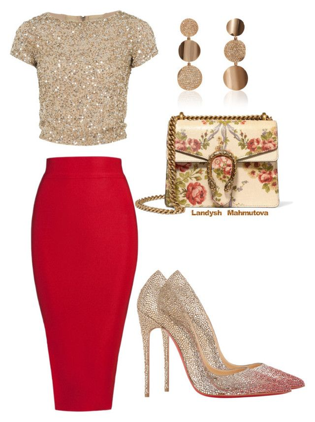 """Шикарно"" by landysh-1425 ❤ liked on Polyvore featuring Alice + Olivia, Posh Girl, Christian Louboutin, Gucci and Sabbadini"