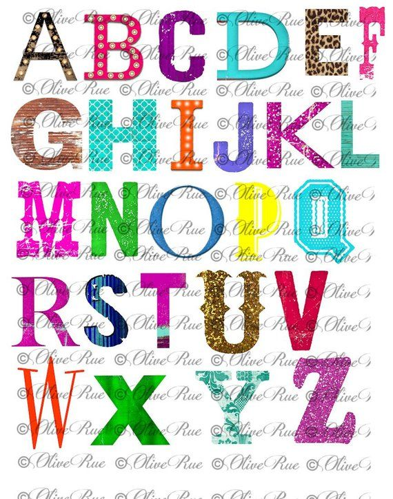Funky, Bold, Marquee Letters Clip Art, Design Elements, Digital