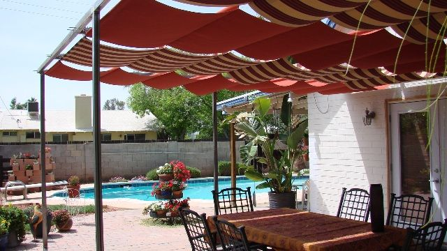 Charming Pergola Retractable Sun Shade | Bulldog Design/Build LLC: Patio Covers And Sun  Shades | Ideas For Our House | Pinterest | Pergolas, Patios And Backyard