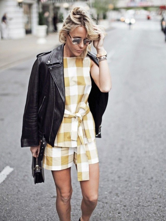 A Blogger-Approved Way to Give Gingham Some Edge | WhoWhatWear UK