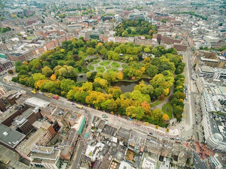 St Stephen's Green puisto. Kuva: dronepicr, flickr.com, CC BY 2.0.