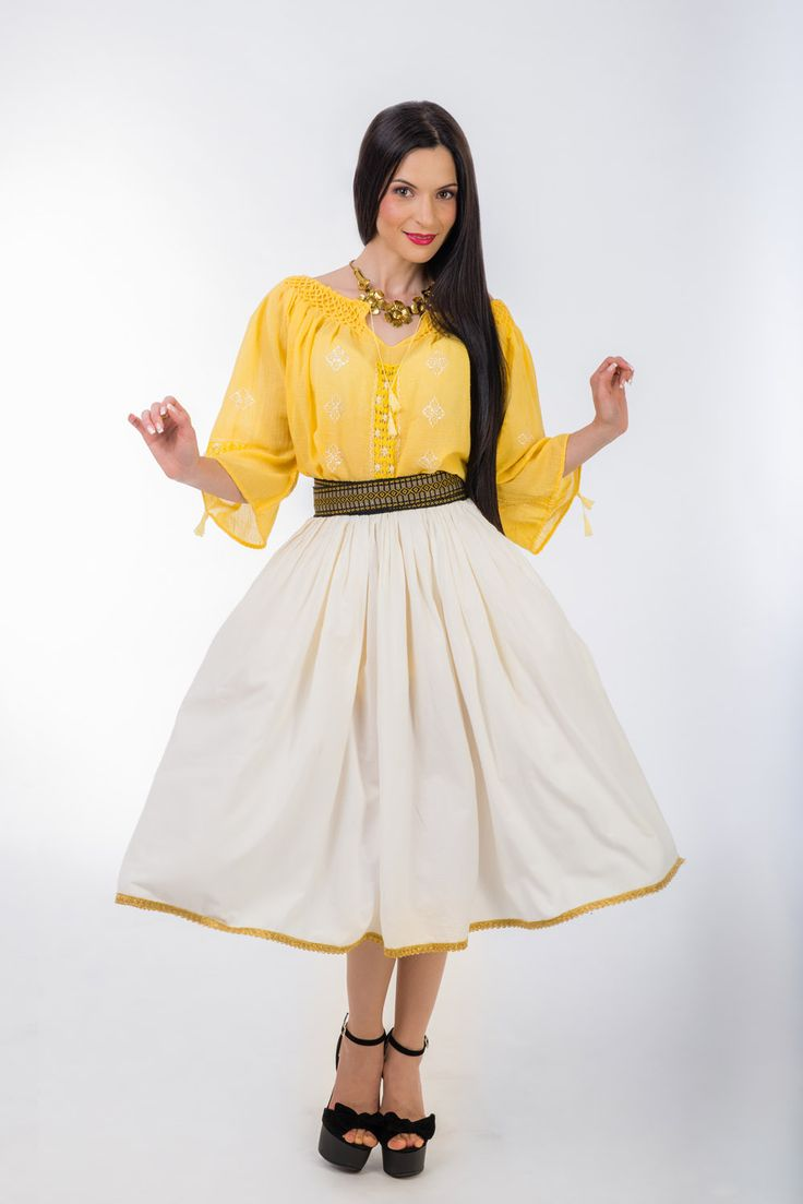 Yellow embroidered blouse #yellowcanvas