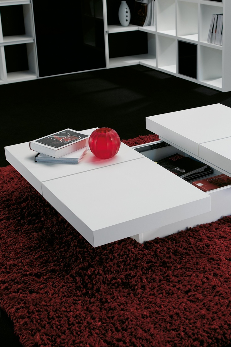 Tema Home  Kyoto Storage Table - White     http://kalea.biz/nuestros-productos/mesas-de-centro-y-auxiliares/mesa-centro-kyoto-rectangunlar