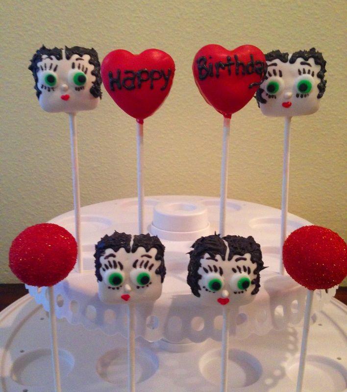 Betty Boop Cake Pops