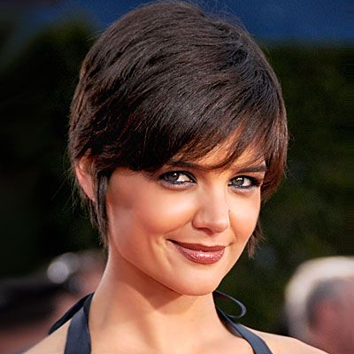 "I like this cut for short hair! She's 5'9"" and proves that tall ladies can pull off short hair.: Bobs Hairstyles, Shorts Hair, Style Guide, Woman Shorts, Hair Style, Haircuts Photos, Katy Holmes, Pixie Cut, Blockbust Haircuts"