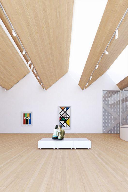 Penda propõe um novo Museu Bauhaus mutável,Render Vista Interior. Imagem Cortesia de Penda