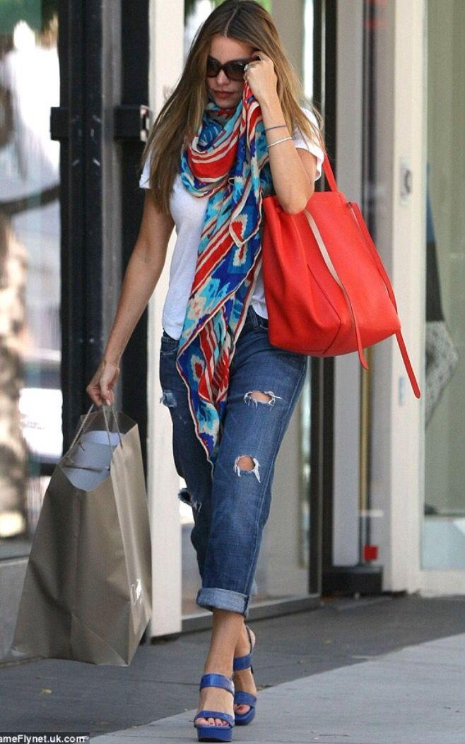 Sofia Vergara - Celine Red Phantom Cabas Tote | Bags bags bags ...