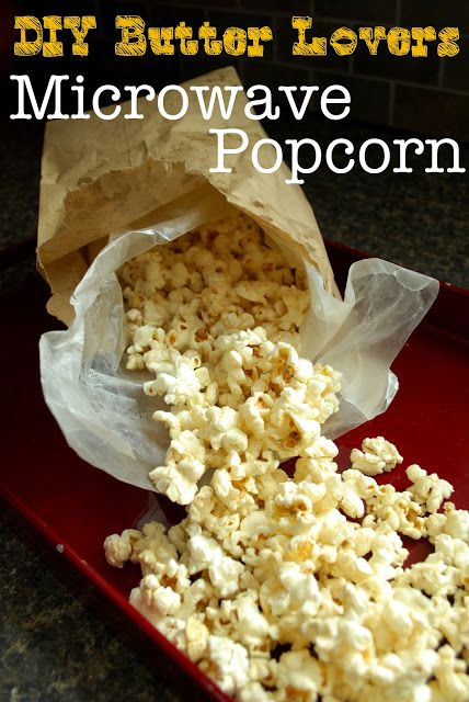 My Kitchen Escapades: DIY Butter Lovers Microwave Popcorn (you cook the kernals in the butter!  Much easier than drizzling).