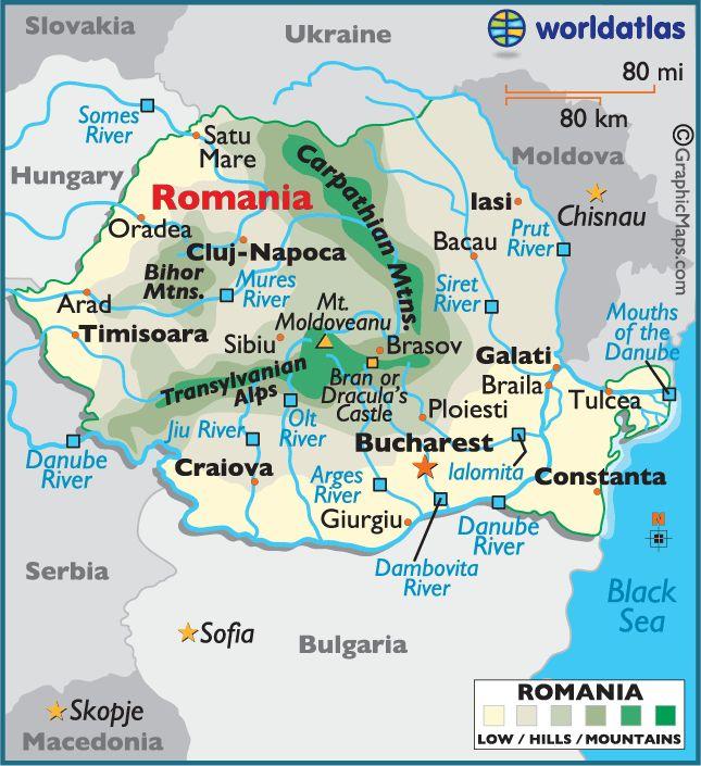 Las Mejores Ideas Sobre Romania Facts En Pinterest Rumania - Where is romania on a map