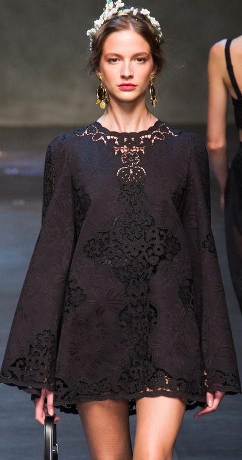 Little Black Dress : Dolce & Gabbana Spring 2014