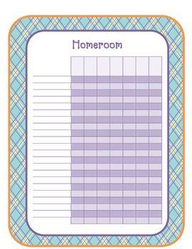 gradebook printable