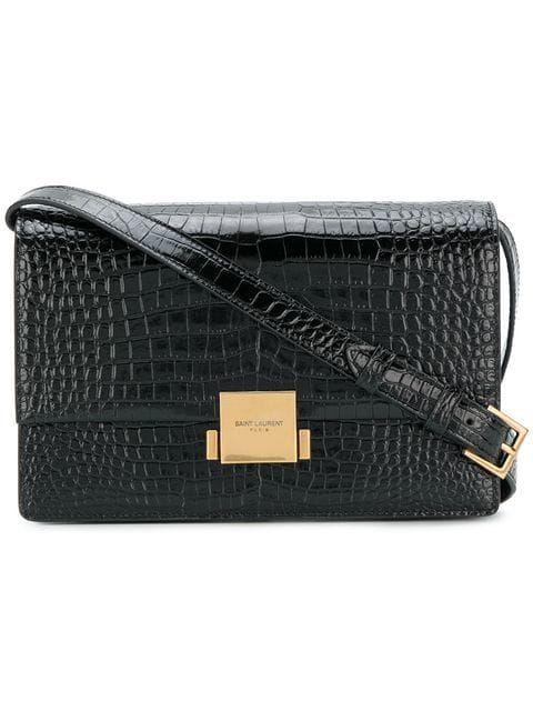 e2935b3201c31 Shop Saint Laurent Bellechasse shoulder bag Black Suede