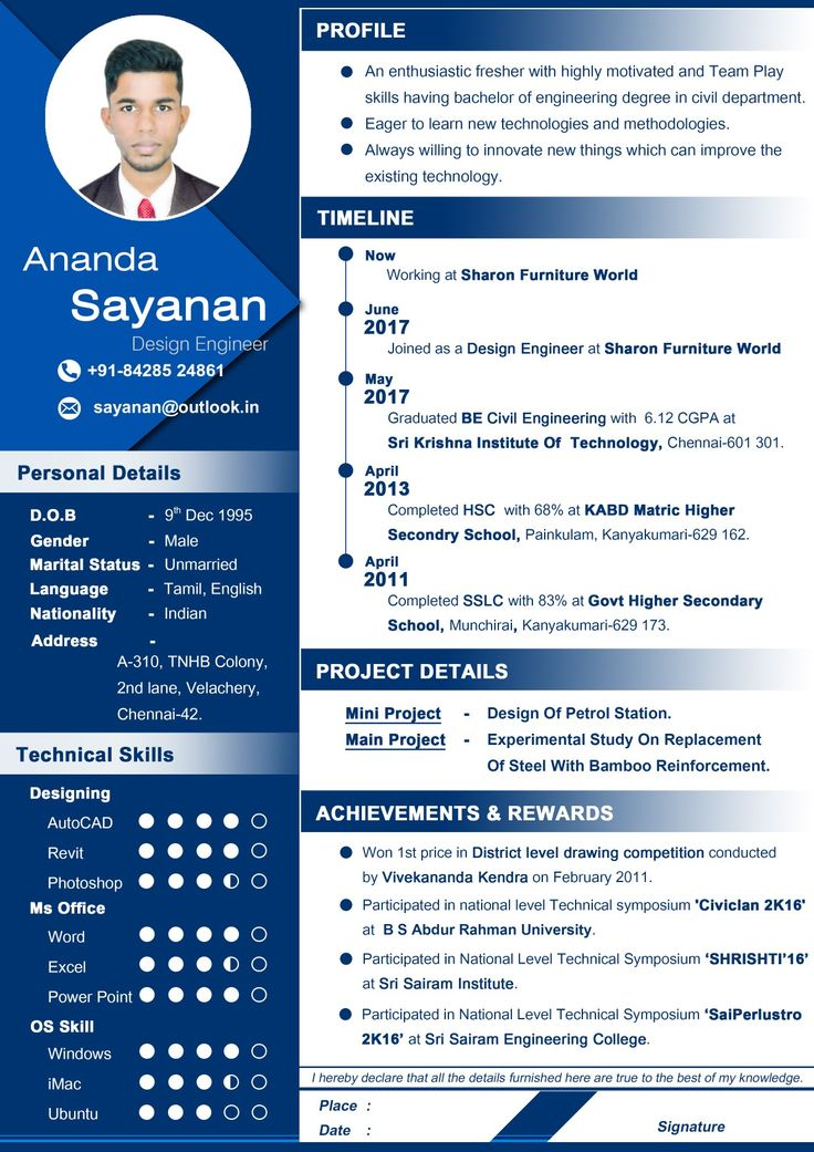 Professional Resume for civil engineer fresher, Awesome resume., pin it