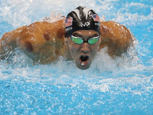 Michael Phelps during the 200-meter butterfly final