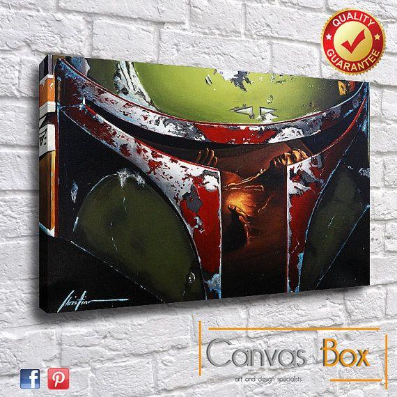 Star Wars Film Box Gerahmte Leinwand-Kunstdruck von CanvasBoxUk