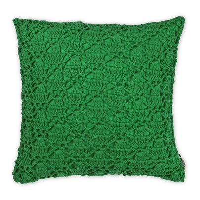 Crochet Cushion in Emerald