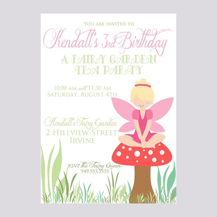 Custom Fairy Birthday Invite - Pixie Party Invitation - Fairy - Party Supplies. $12.00, via Etsy.