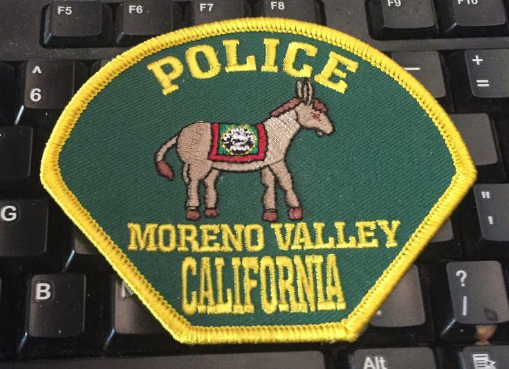 Moreno Valley California Police Department Burro Awareness Patch Free Ship • $12.95 - PicClick