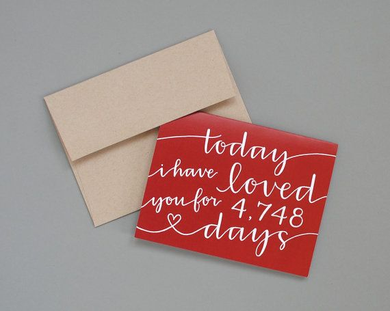 Personalized Greeting Card // Today I Have Loved by EmDashPaperCo, $7.00