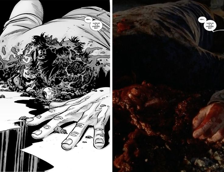 Side By Side Comparison Of Glenn's Death In The Walking Dead Comics