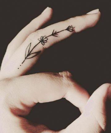 Finger Tattoos: Flower Picking