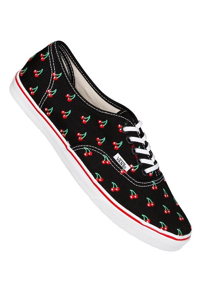 vans authentic low pro cherry sneakers f r damen. Black Bedroom Furniture Sets. Home Design Ideas